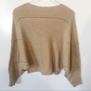 Sweaters - Tan Poncho Sweater
